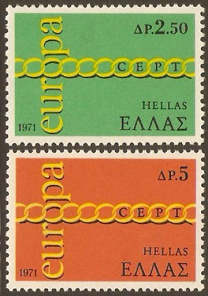 Greece 1971 Europa Stamps. SG1176-SG1177.