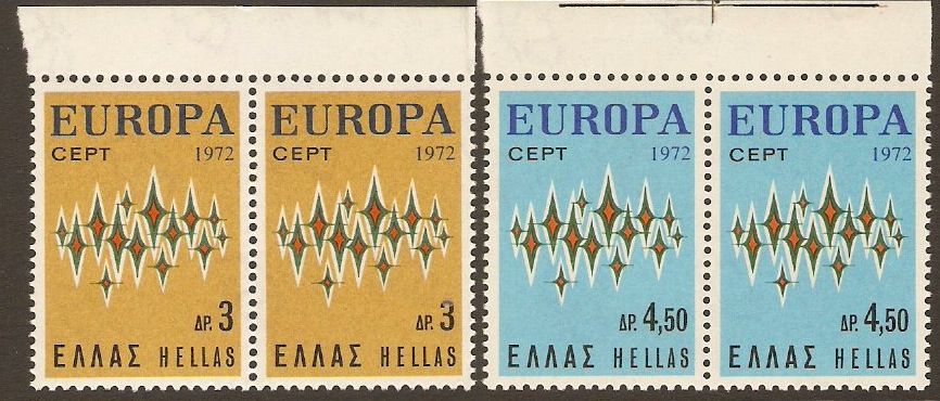 Greece 1972 Europa Stamps. SG1208-SG1209.