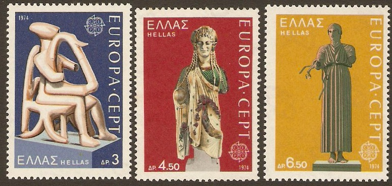 Greece 1974 Europa Stamps. SG1268-SG1270.