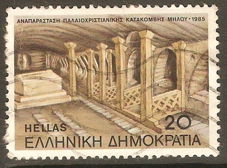 Greece 1985 20d Melos Catacombs series. SG1682.