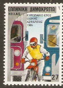 Greece 1986 27d Road Safety series. SG1729.