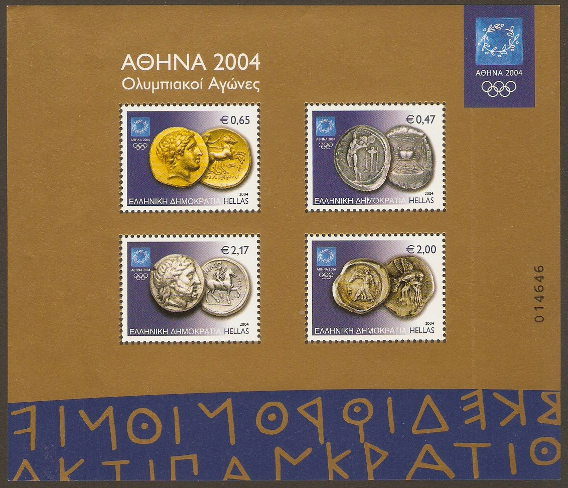 Greece 2004 Ancient Coins Sheet. SGMS2279.