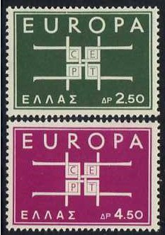 Greece 1963 Europa Set. SG927-SG928.
