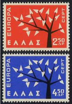 Greece 1962 Europa Set. SG898-SG899.