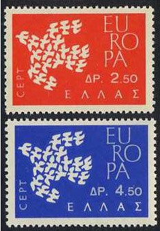 Greece 1961 Europa Set. SG877-SG878.