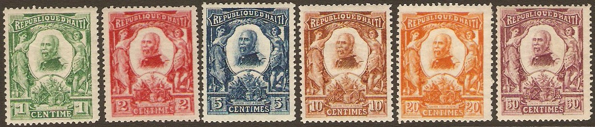 Haiti 1904 External mail set. SG109-SG114.