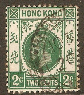 Hong Kong 1912 2c Green. SG101a.
