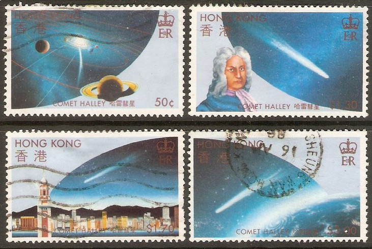 Hong Kong 1986 Halley's Comet set. SG507-SG510.