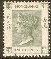 Hong Kong 1900 2c Dull green. SG56.