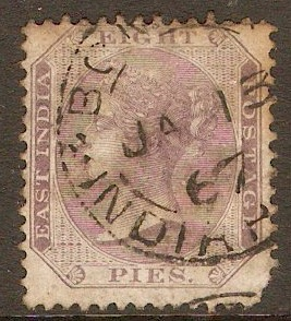 India 1860 8d Purple on white. SG52.