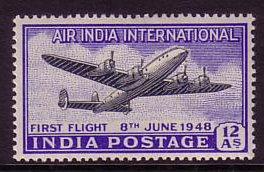 India 1948 Airmail Stamp. SG304.