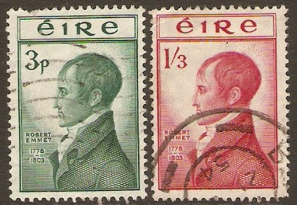 Ireland 1953 Robert Emmet Commemoration set. SG156-SG157.