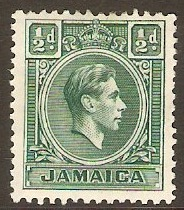 Jamaica 1938 ½d Blue-green. SG121.