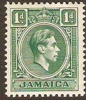 Jamaica 1938 1d Blue-green. SG122a.