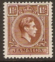 Jamaica 1938 1½d Brown. SG123.