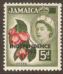Jamaica 1962 5d Scarlet and bronze-green. SG185.