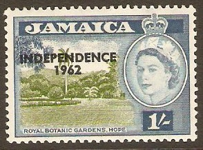 Jamaica 1962 1s Yellow-green and blue. SG188.