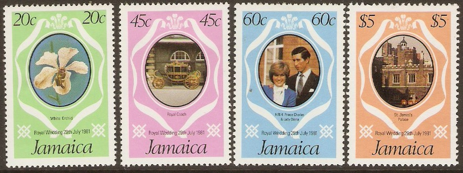 Jamaica 1981 Royal Wedding Set. SG516-SG519.