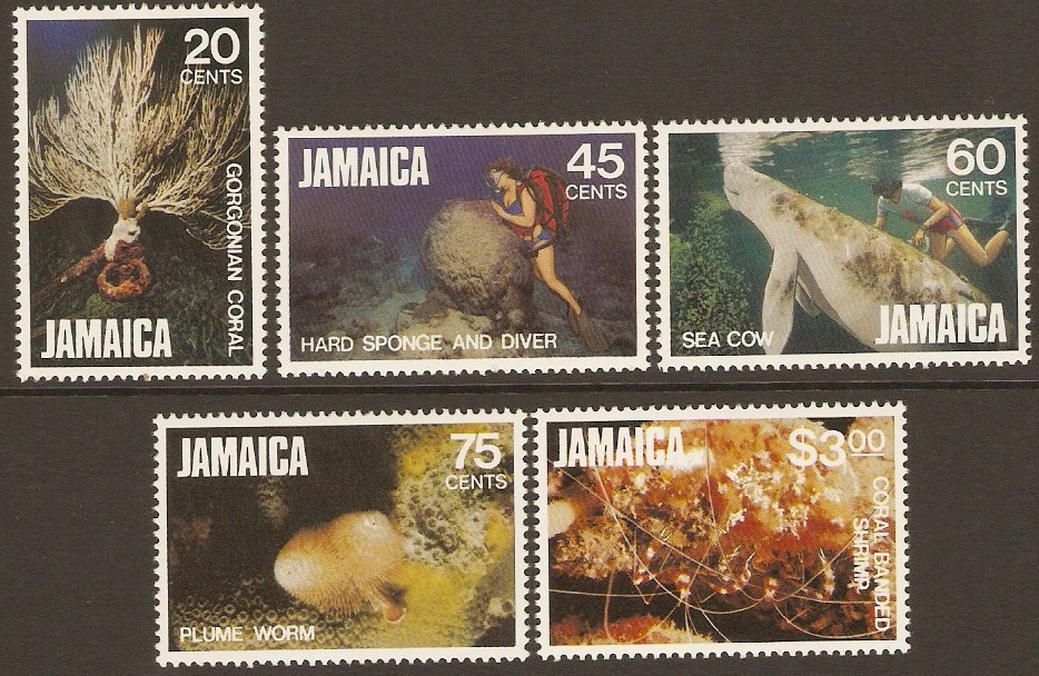Jamaica 1982 Marine Life Set - 2nd. Series. SG541-SG545.
