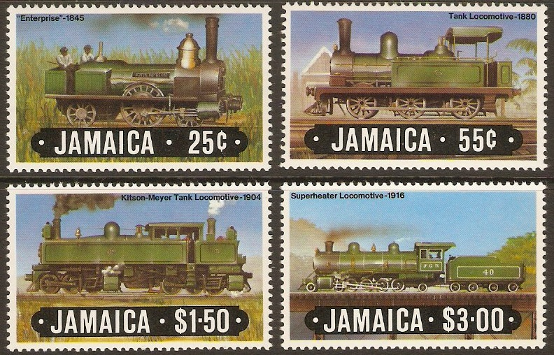 Jamaica 1984 Railway Locomotives Set - 1st. Series. SG612-SG615.