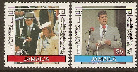 Jamaica 1986 Royal Wedding Set. SG656-SG657.