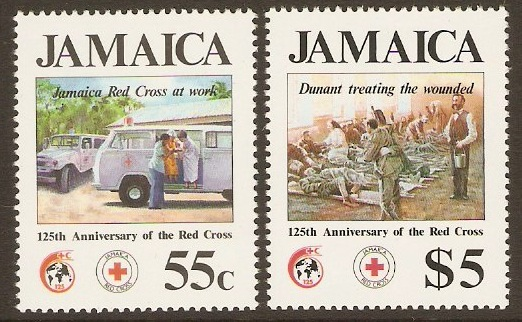 Jamaica 1988 Red Cross Anniversary Set. SG720-SG721.