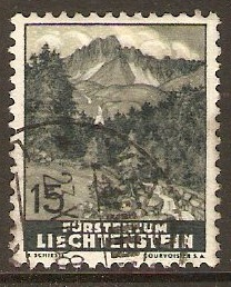 Liechtenstein 1937 15r Views series. SG157.