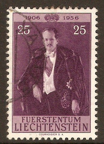 Liechtenstein 1956 25r Princes Birthday series. SG348.