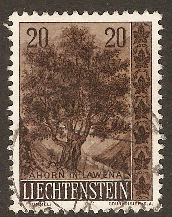 Liechtenstein 1957 20r Trees and Bushes series. SG356.