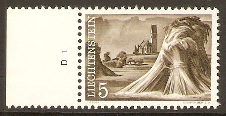 Liechtenstein 1959 5r Olive-brown. SG379