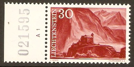 Liechtenstein 1959 30r Brown-red. SG382