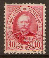 Luxembourg 1891 10c Carmine. SG125.
