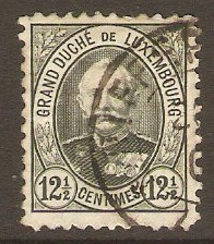 Luxembourg 1891 12½c Grey-green. SG126b.