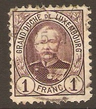 Luxembourg 1891 1f Purple. SG133.