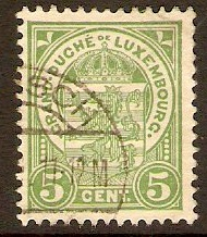 Luxembourg 1906 5c Green - Arms series. SG160.