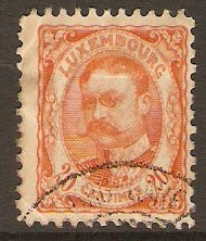 Luxembourg 1906 20c Orange - Grand Duke William series. SG165.