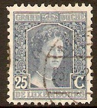 Luxembourg 1914 25c Blue - Grand Duchess Adelaide series. SG177.