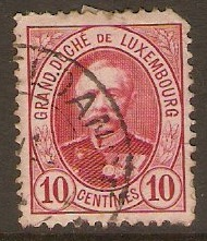 Luxembourg 1891 10c Carmine. SG125a.