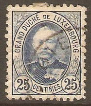 Luxembourg 1891 25c Blue. SG129b.