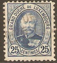 Luxembourg 1891 25c Blue. SG129c.
