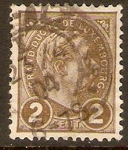 Luxembourg 1895 2c Grey-brown. SG153.