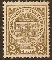 Luxembourg 1906 2c grey-brown. SG158.