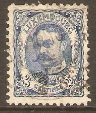 Luxembourg 1906 25c Blue. SG166.