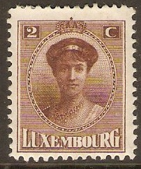Luxembourg 1921 2c Brown. SG194.