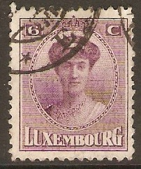 Luxembourg 1921 6c Purple. SG196.