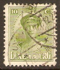 Luxembourg 1921 10c Pale yellow-green. SG197.
