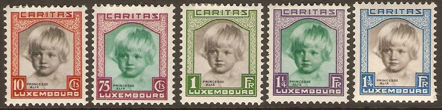 Luxembourg 1931 Child Welfare set. SG302-SG306.