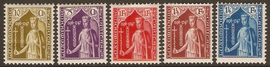 Luxembourg 1932 Child Welfare set. SG307-SG311.