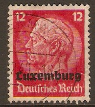Luxembourg 1940 12pf German Occupation series. SG403.