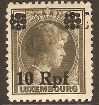 Luxembourg 1940 10 Rpf on 40c olive-brown. SG418.